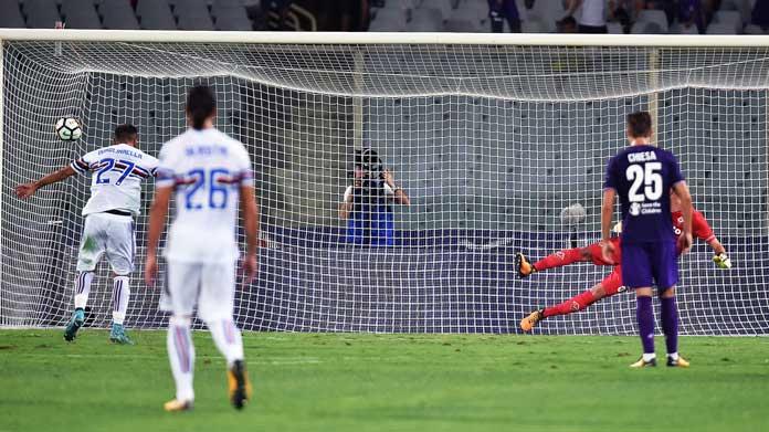 Quagliarella rigore Fiorentina Sampdoria Serie A