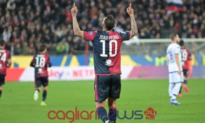 Joao Pedro esultanza Cagliari Parma